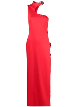 Red cut-out midi dress