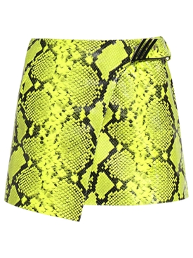 Mini Skirt Python printed leather