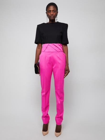 Attico Cottons Structured Shoulder T-shirt Black