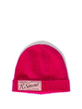 Knit Beanie With Woven Label PINK