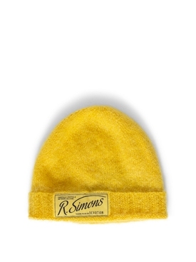 Knit Beanie With Woven Label YELLOW