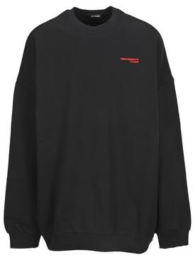 Synchronicity Oversized Crewneck Sweater Black