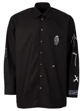 Gothic big fit shirt black