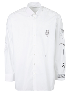 Gothic big fit shirt white