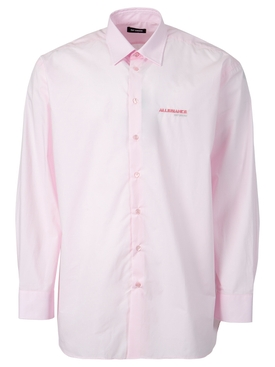 Big fit shirt with embroidered text in back light pink