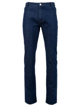 Slim fit denim pants dark navy