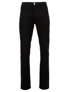 Slim fit denim pants black