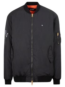Gothic bomber jacket black