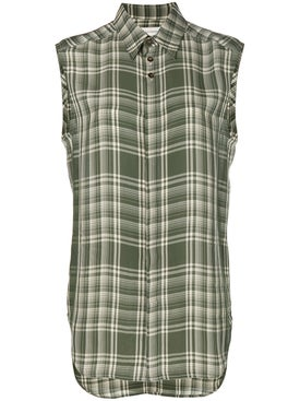 Wales Bonner - Plaid Sleeveless Shirt - Men