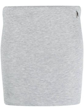 Ezra cotton-blend mini skirt, light grey