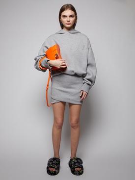 Ezra cotton-blend mini skirt, light grey