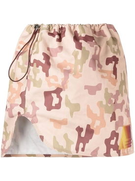 Giana camouflage print mini skirt, sand