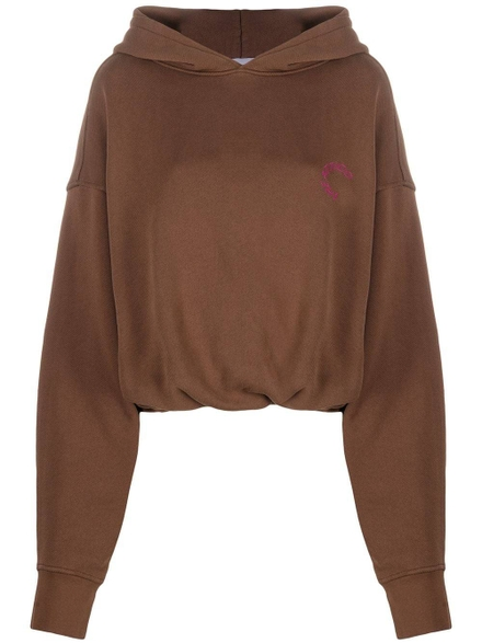 Attico Cottons Maeve Oversized Hoodie, Tobacco Brown
