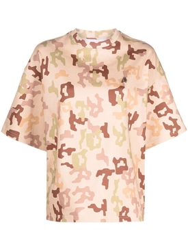 Cara oversized cotton t-shirt, Sand