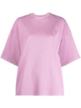 Cara oversized cotton t-shirt, Mauve