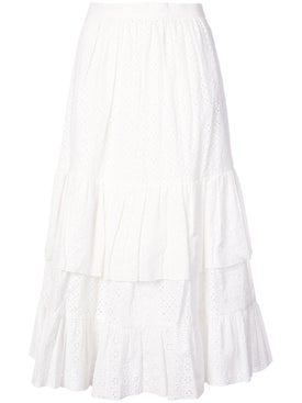 Alexachung - Embroidered Flared Midi Skirt - Women