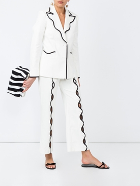 contrast-trim wave trousers