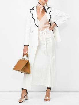 contrast-trim fitted blazer