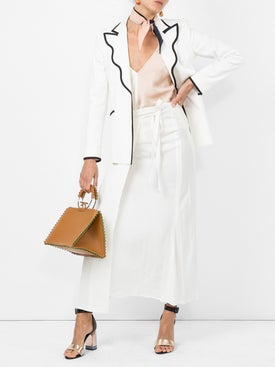 Sara Battaglia - Contrast-trim Fitted Blazer - Women
