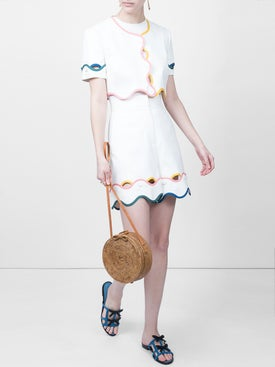 Sara Battaglia - Wavy Hem Shorts - Women