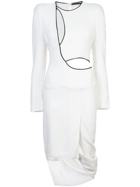 Haider Ackermann - Draped Cutout Dress - Women
