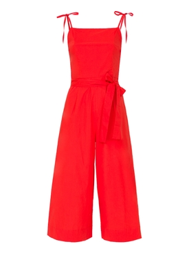 hibiscus jumpsuit RED
