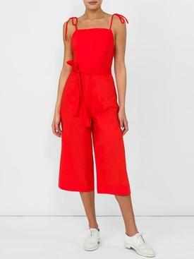 hibiscus jumpsuit RED