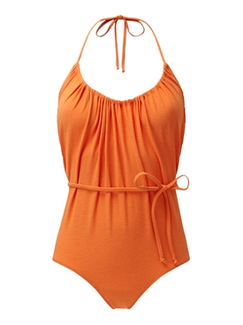 charlotte orange drawstring maillot ORANGE