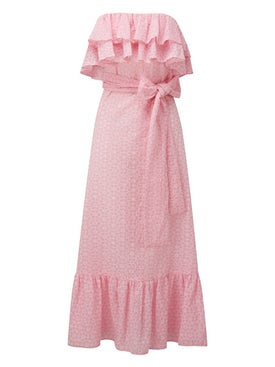 Lisa Marie Fernandez - Sabine Eyelet Dress Pink - Women