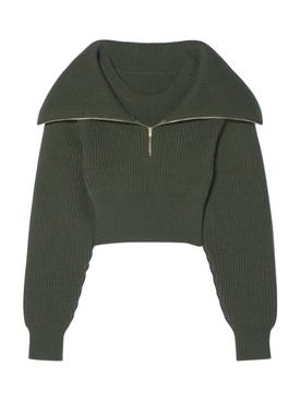 La Maille Risoul Sweater Dark Khaki Green