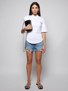 Abbi V-neck T-shirt Mastic White