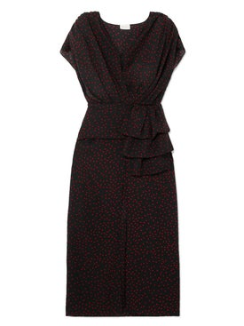 Magda Butrym - Diablo Black Polka-dot Dress - Women