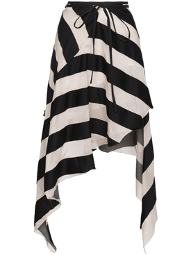 spiral Asymmetric Stripe Skirt