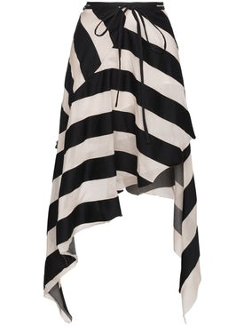 Marques'almeida - Spiral Asymmetric Stripe Skirt - Women