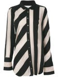 Marques'almeida - Striped Raw-edged Shirt Black - Women