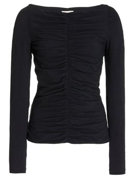 LANCE RUCHED LONG-SLEEVE TOP BLACK