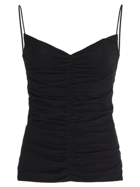 SHELLY RUCHED TOP BLACK