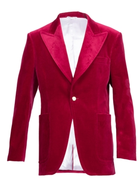 velvet formal jacket RED
