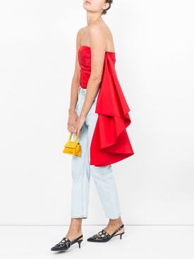 rosie assoulin x the webster waterfall top RED