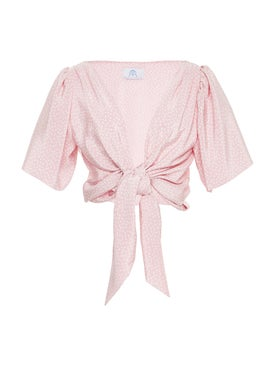 Rebecca De Ravenel - The Talitha Blouse Pink - Women