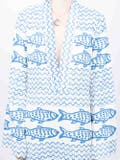 Rebecca De Ravenel - Fish Print Maxi Dress White - Women