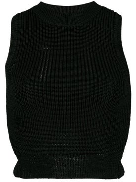 Cushnie - Black Sleeveless Cropped Top - Women