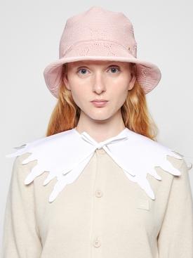 Scalloped collar white