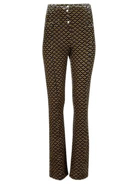 High-waisted Geometric Print Pants