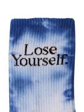 x Peter Saville Lose Yourself' Socks Blue