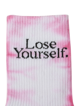 x Peter Saville Lose Yourself' Socks Rose
