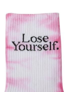 x Peter Saville Lose Yourself' Socks Rose