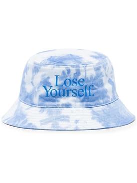 x Peter Saville Lose Yourself Bucket Hat Blue