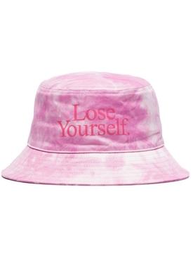 x Peter Saville Lose Yourself Bucket Hat Rose