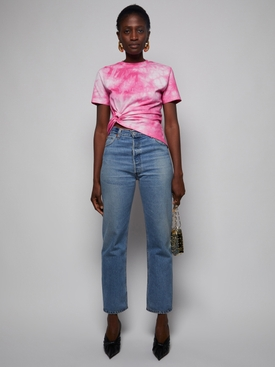 x Peter Saville Pink Tie-Dye Knitted T-Shirt
